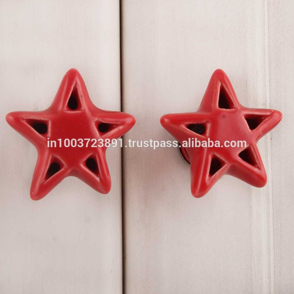 Red Star Ceramic Knob Buy At Best Prices On India Arts Palace Photo, Detailed…