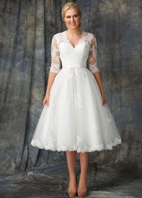 50+ Vintage Midi Wedding Dresses Ideas 12