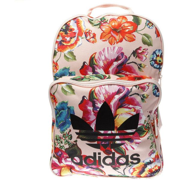 0d719ad531 Pale Pink   Black Adidas Floral Classic Backpack