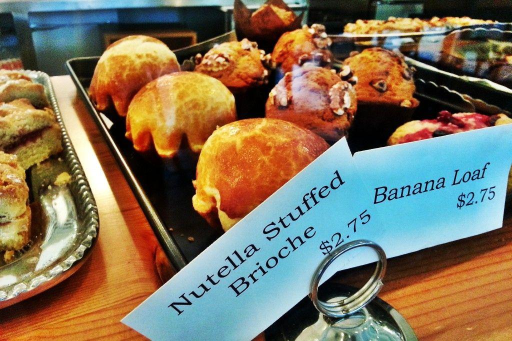 Sweetery Cafe + Dessert Nutella Stuffed Brioche and Banana