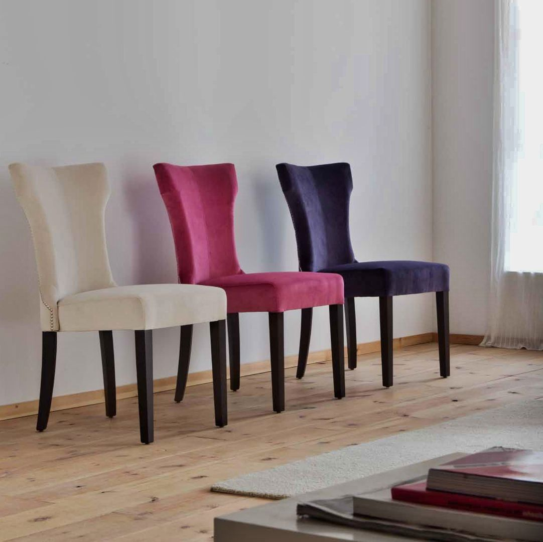 Silla de comedor moderna sonia chairs settees for Sillas metalicas para comedor