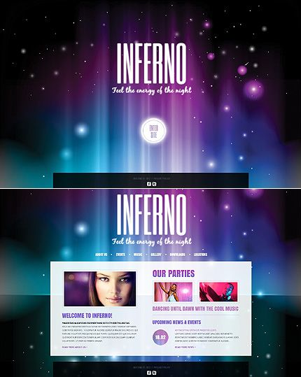 Night Club Website Template #html http://www.templatemonster.com/website-templates/40760.html?utm_source=pinterest&utm_medium=timeline&utm_campaign=night