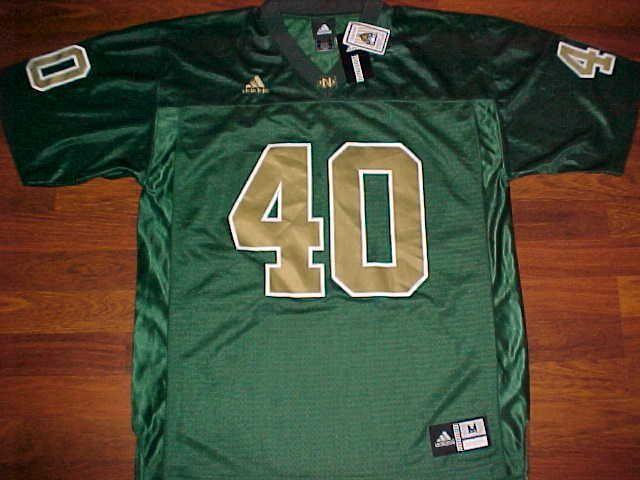 da0b94254 adidas NCAA FBS Notre Dame Fighting Irish 40 Green Gold Football Jersey M  New  adidas  NotreDameFightingIrish