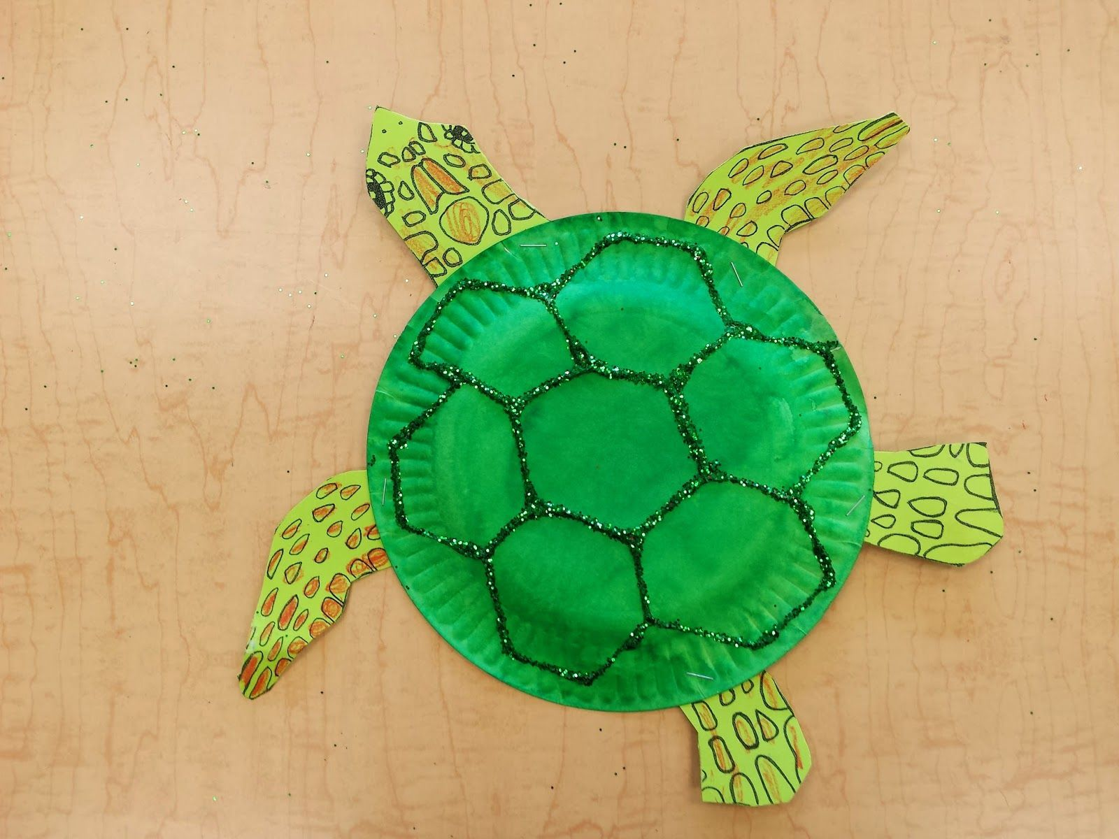 Paper Plate Sea Turtle Free Template Ocean Pinterest Turtle