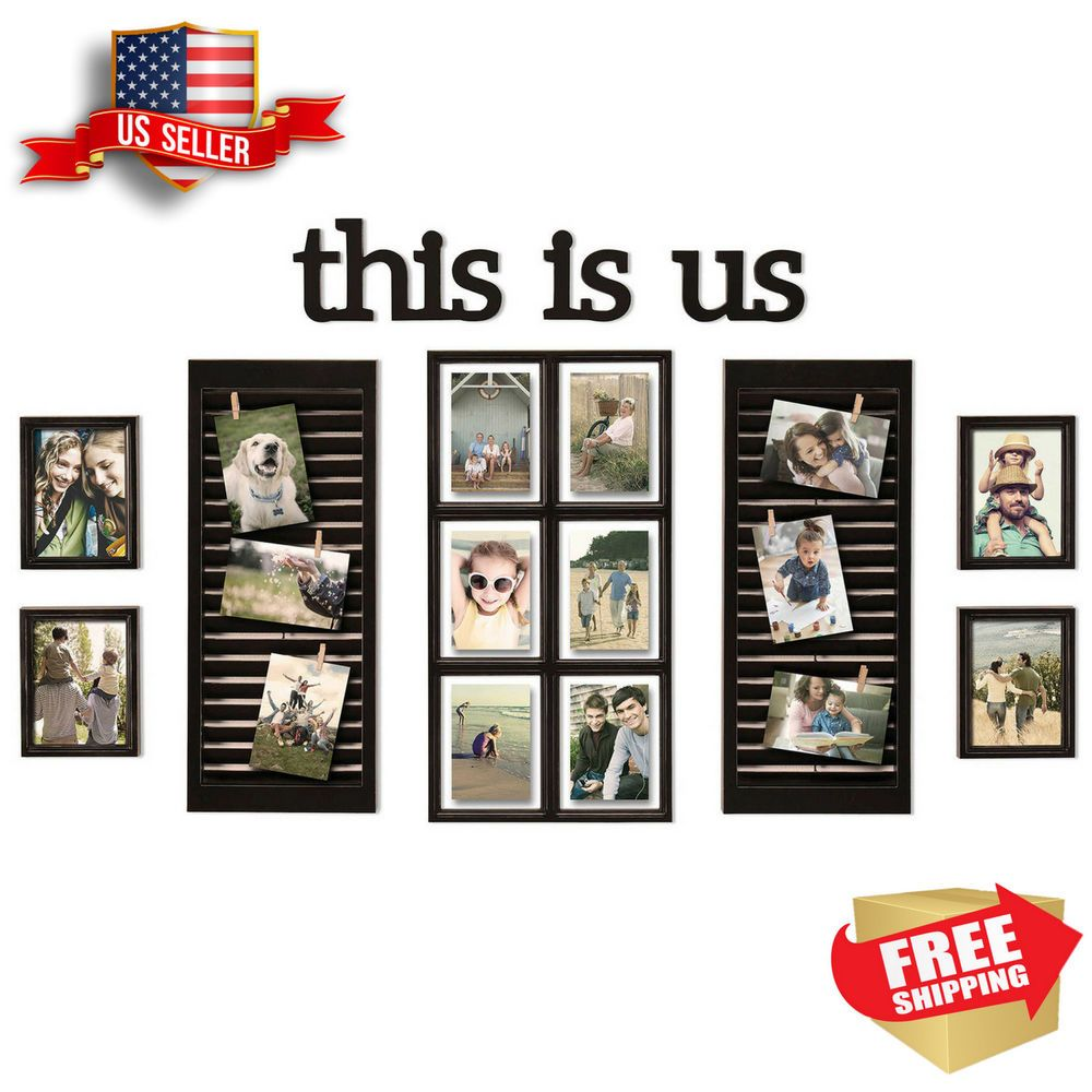 16 Piece Picture Photo Frame Set This Is Us Collage Wall Art Home