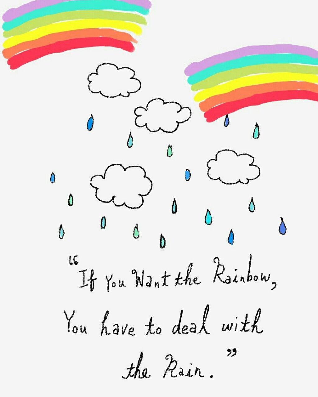 Havfundoodlin Rainbow Quote Life Balance Quotes Work Life Balance Quotes