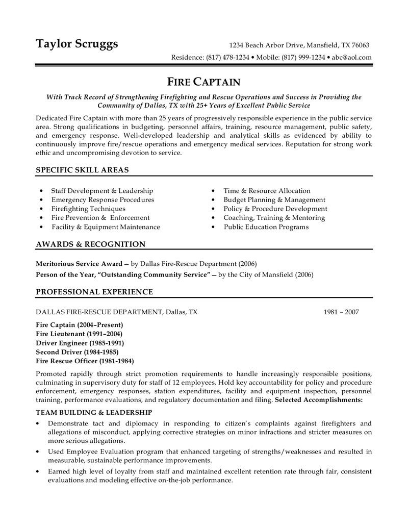 Police Officer Resume Example  HttpJobresumesampleCom
