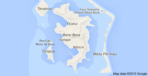 Map of Bora Bora, French Polynesia | Travel