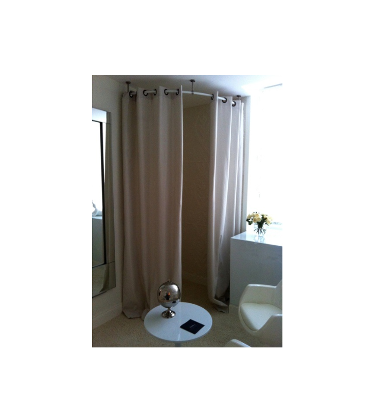 Rounded Curtain Rod For Changing Room Round Curtain Rod
