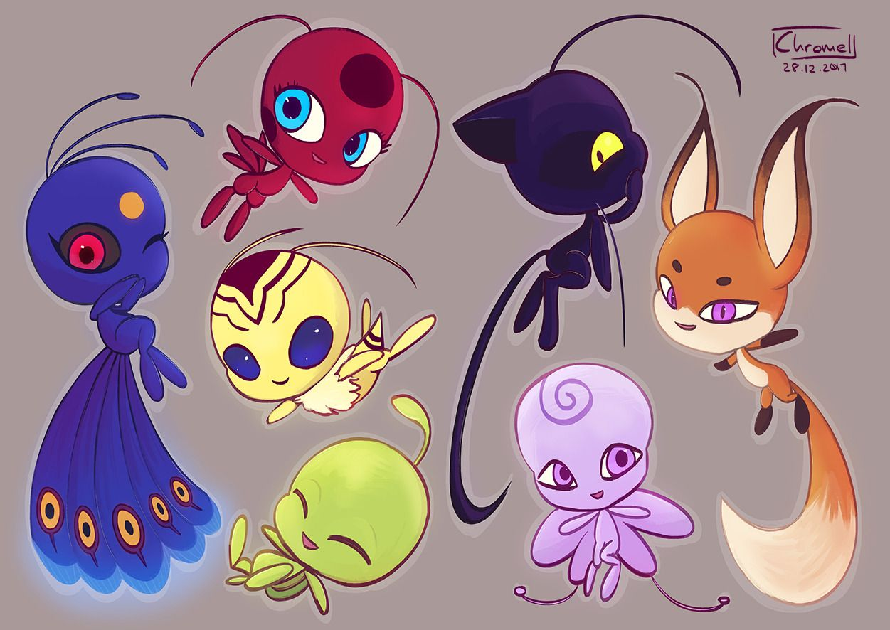 Chromelxd Kwamis Plagg Is My Favourite Duh Here Are The Kwamis That I Drew For My Mlb Fan Art Book Th Miraculous Ladybug Comic Miraculous Ladybug Ladybug