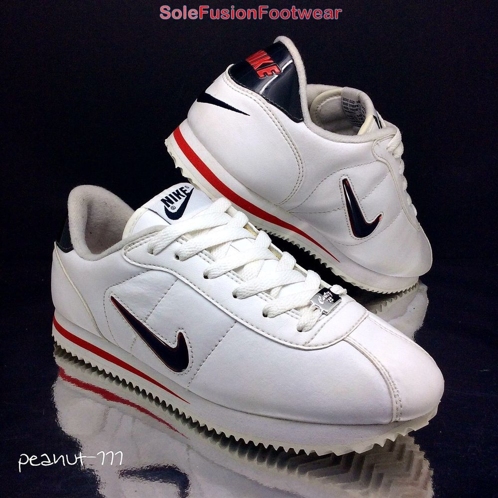 838010468 Nike Boys Cortez 72 White Red Trainers sz 4 Girls Retro Sneaker US 4.5 Kids  36.5 in Clothes