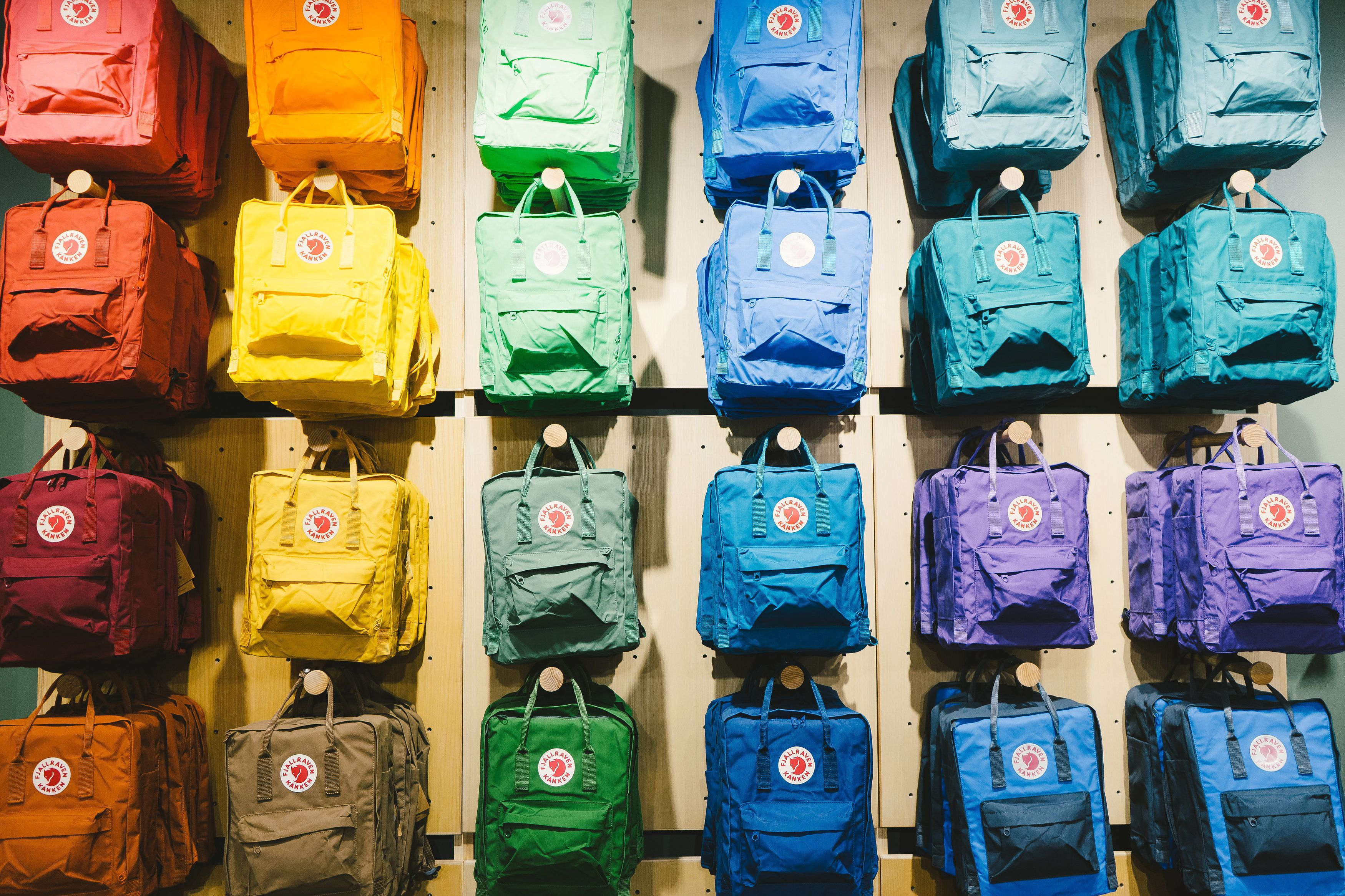 611a96832f4 The Kånken rainbow at our Mall of America store! | Kanken in 2019 ...