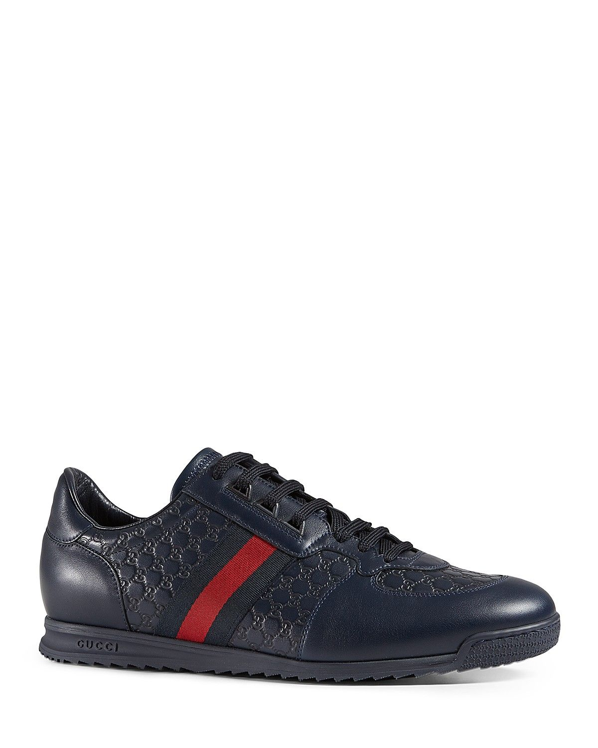 88226c885 Gucci Micro Guccissima Lace-Up Sneaker with Web Detail | Clothes and ...