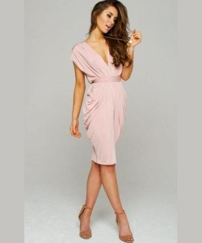blush v-neck summer wedding guest dress 2015 | Blushing Pink ...