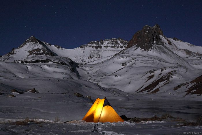Winter tent at night in the mountains... Ice Lake Basin. & Winter tent at night in the mountains... Ice Lake Basin. | ? Into ...