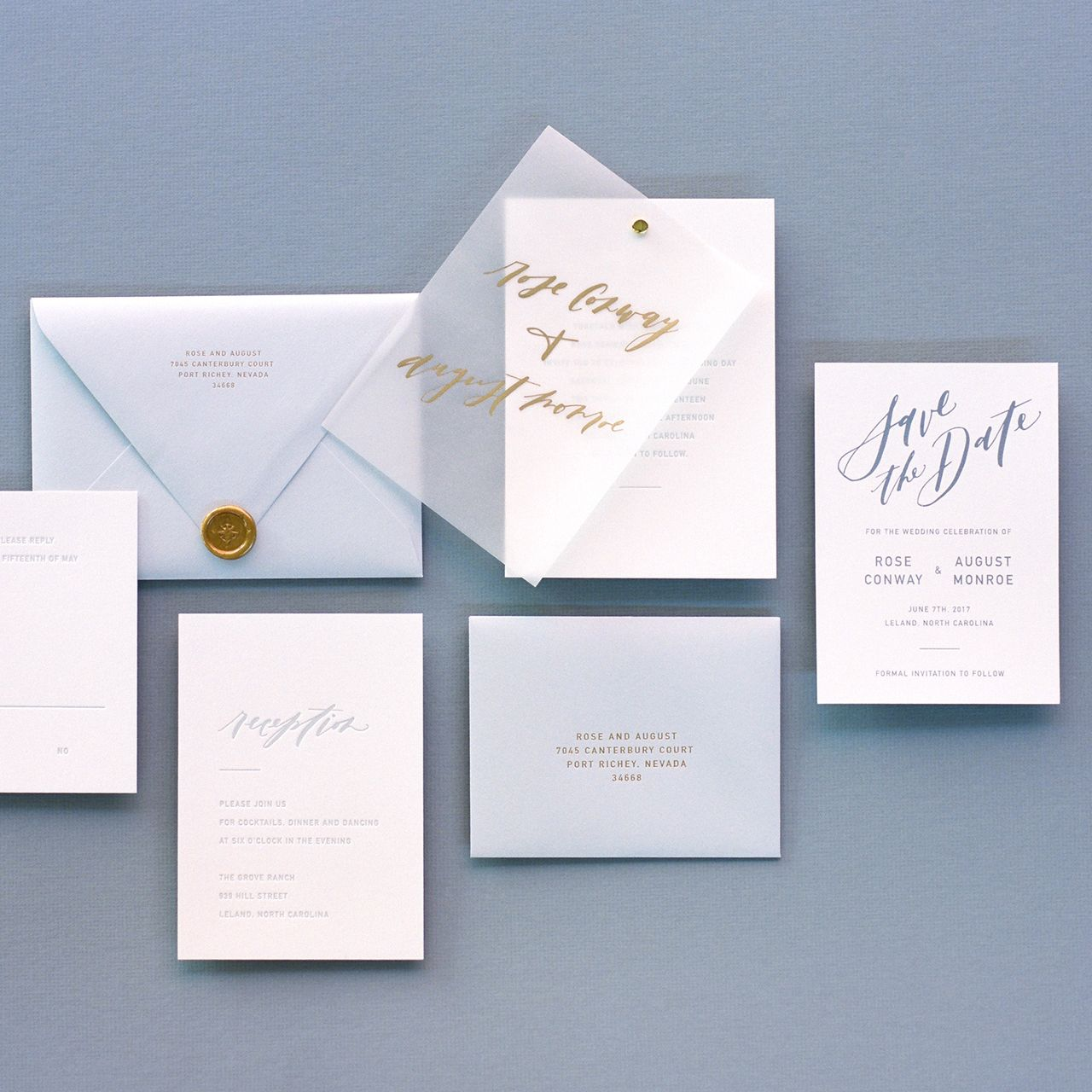 Trendspotting Vellum Inspiration Wedding Invitation Inspiration