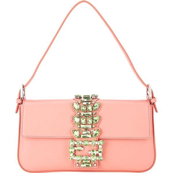 Fendi Women's Baguette (5.480 BRL) ❤ liked on Polyvore featuring bags, handbags, shoulder bags, purses, colorless, handbags shoulder bags, purse shoulder bag, handbags purses, shoulder handbags and man bag