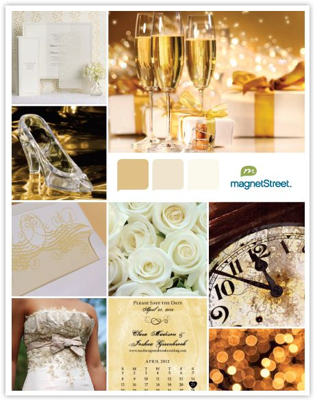 New Year's Wedding Theme - Metallic Color Palette Inspiration