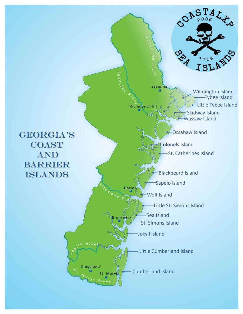The Sea Islands are a chain of tidal and barrier islands on the