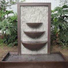 image result for fuentes de agua exterior modernas