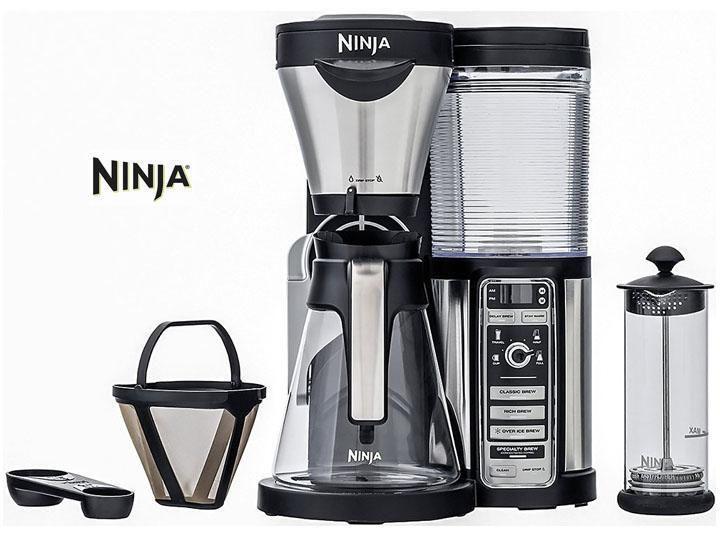 Ninja coffee bar brewer with glass carafe auto iq