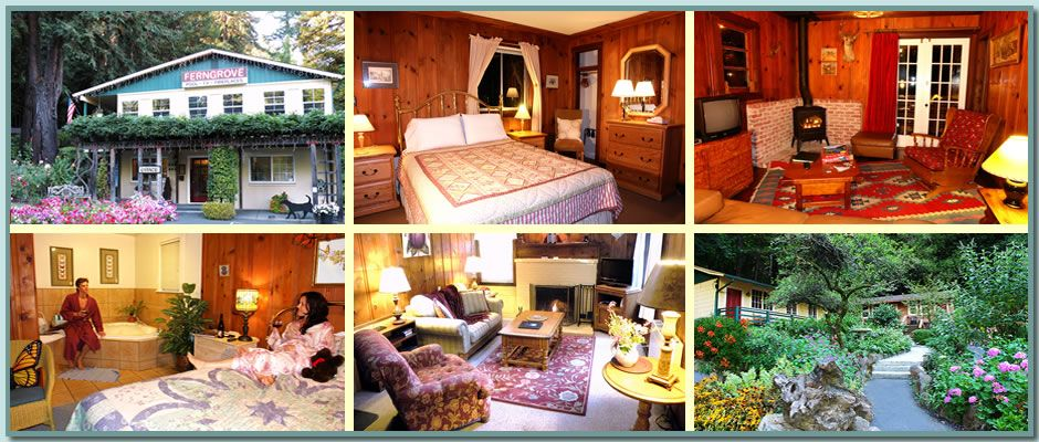 Fern Grove Cottages, Guerneville, CA Sonoma wine country