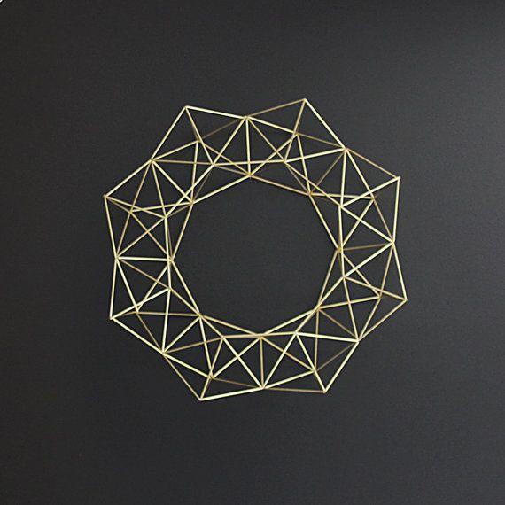 Bruma Modern Geometric Wreath Himmeli Modern Wreathminimalist Home Decorminimalist