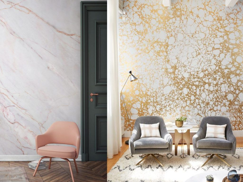 Cabeceros tapizados para tu dormitorio ideas para decorar dicoro interiorismo pinterest - Papel pared salon ...