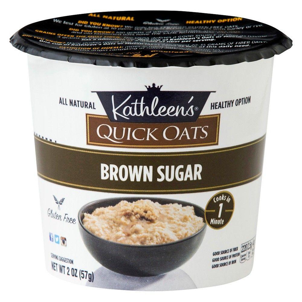 Kathleen's All Natural Gluten Free Brown Sugar Quick Oats 2 oz