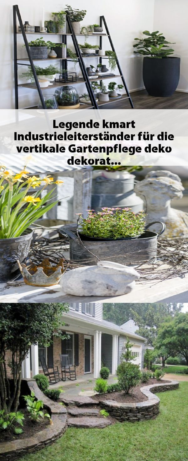 garten dekoration leiter Legende kmart Industrieleiterstnder fr die vertikale Gartenpflege