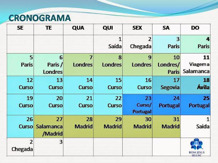 Cronograma Janeiro 2015