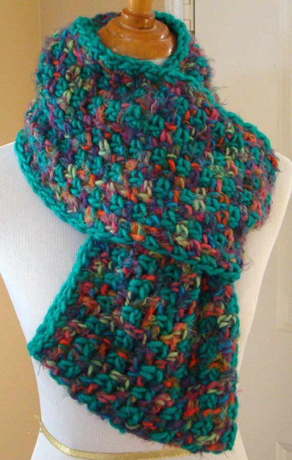 Infinity scarf, Crochet Infinity Scarf, Aspen Spring Infinity Scarf ...