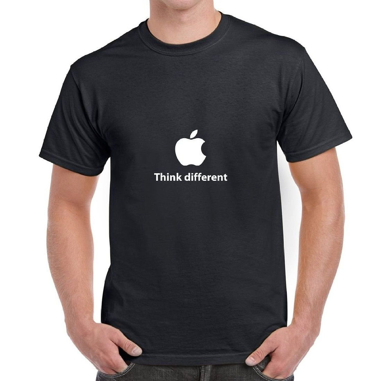 2d681e54c50899 Apple Think Different T Shirt Tee  Amazon.co.uk  Clothing Christmas Birthday
