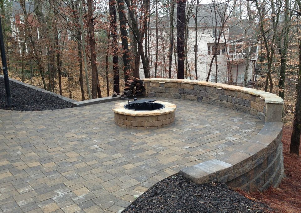 patio built on slope google search diy pinterest fire pits