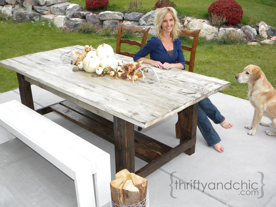 High Quality DIY Outdoor Farmhouse Table