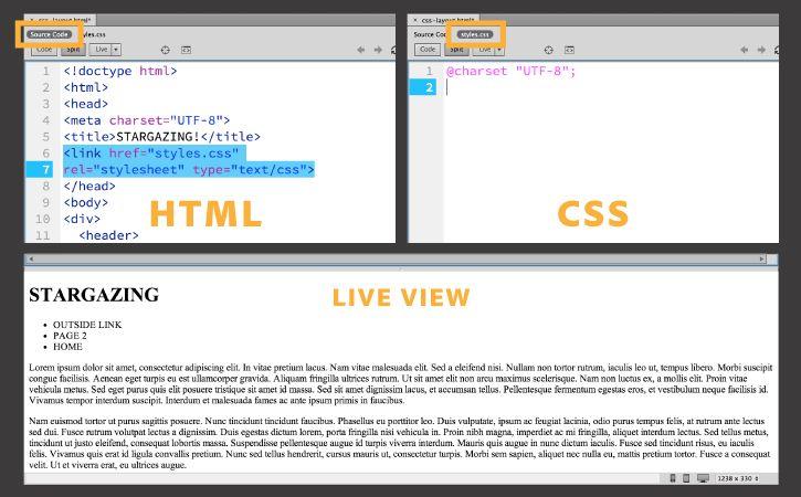 Learn Css Web Layout Basics In Dreamweaver Css Basics Web Layout Adobe Dreamweaver