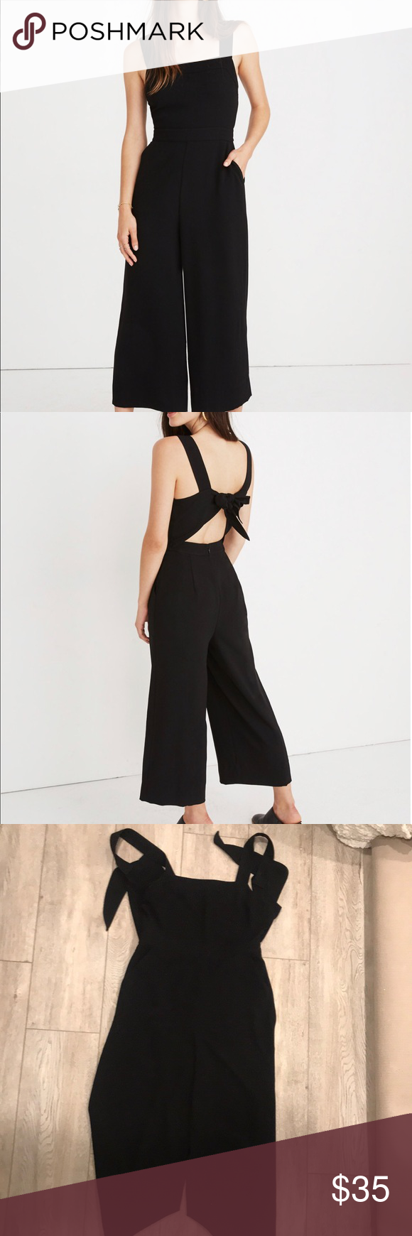 Madewell Apron Bow Back Jumpsuit In 2018 My Posh Picks Pinterest