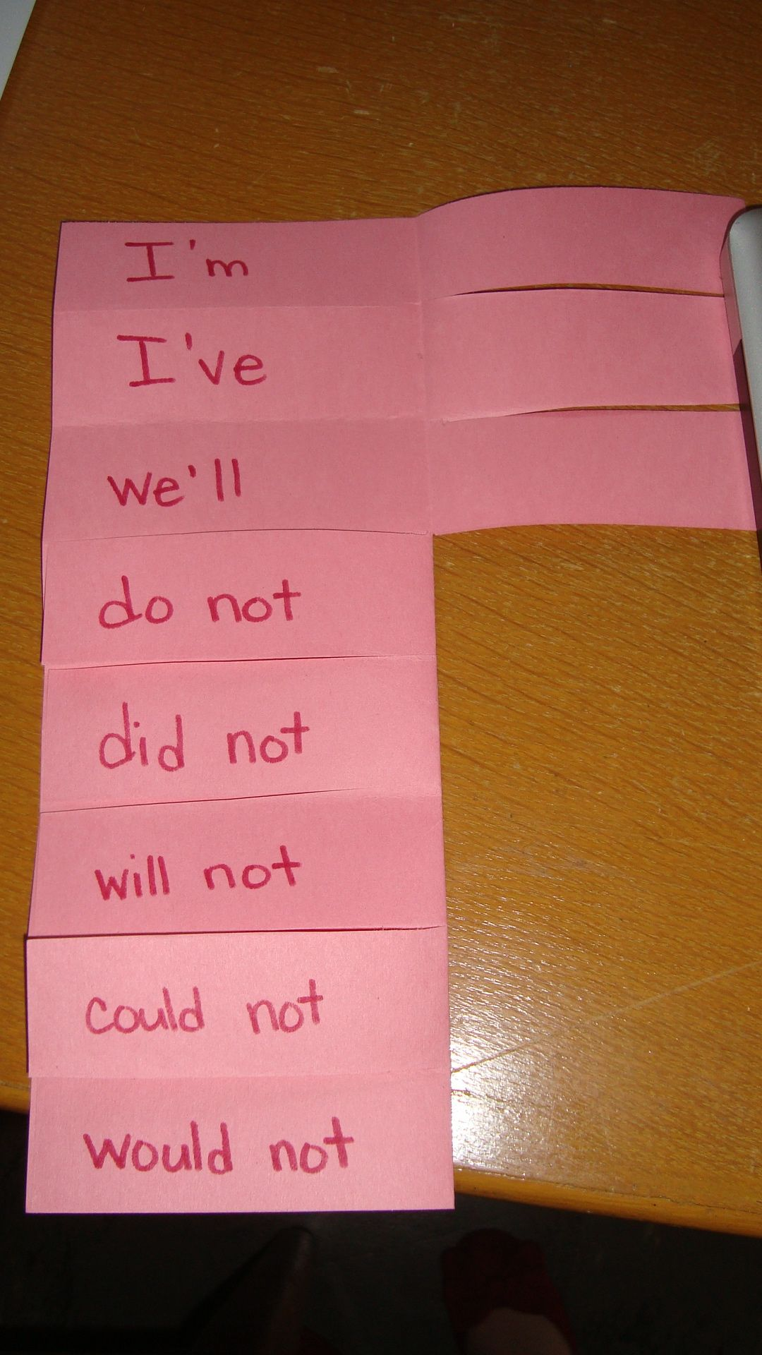 Foldable For Contractions
