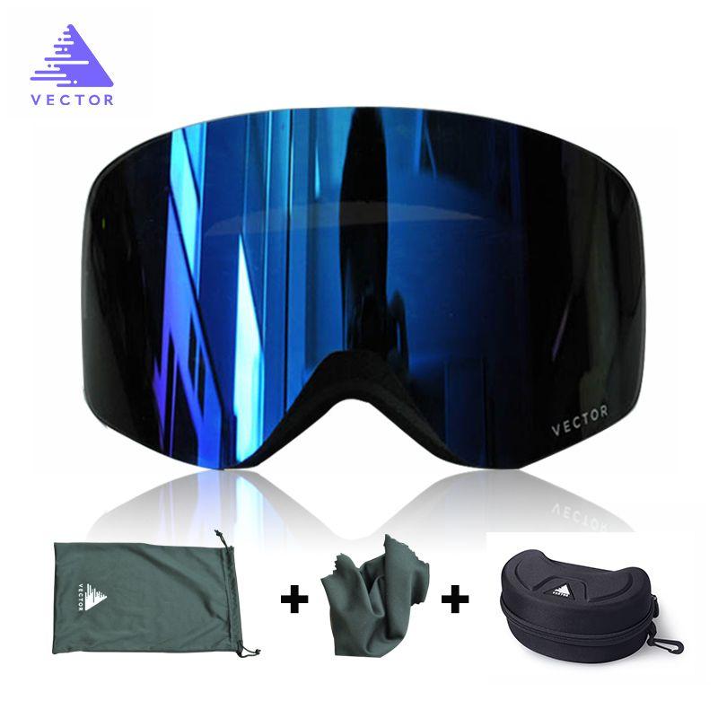 9b5fe4d80a66 Brand Ski Goggles Men Women Double Lens UV400 Anti-fog Skiing Eyewear Snow  Glasses Adult