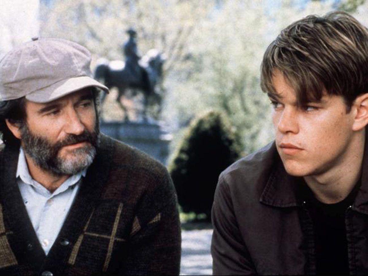 Matt Damon Recalls His Bench Scene With Robin Williams Robin Williams Movies Good Will Hunting Robin Williams
