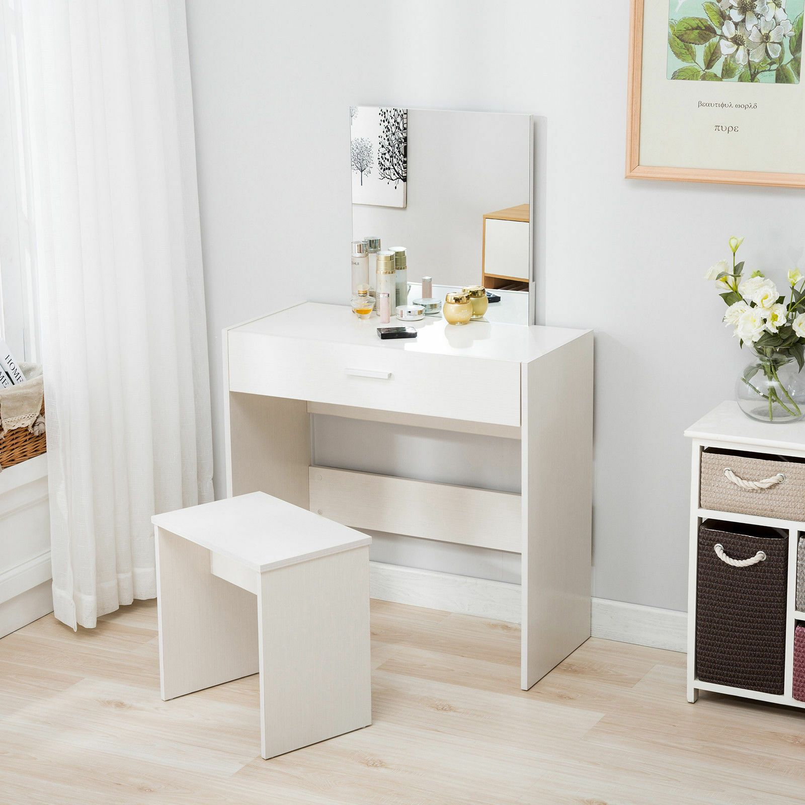 95 Reference Of Bathroom Vanity Makeup Drawer In 2020 White