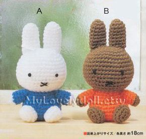 Mini Miffy Rabbit Amigurumi Crochet Pdf Pattern By Mylovelydoll