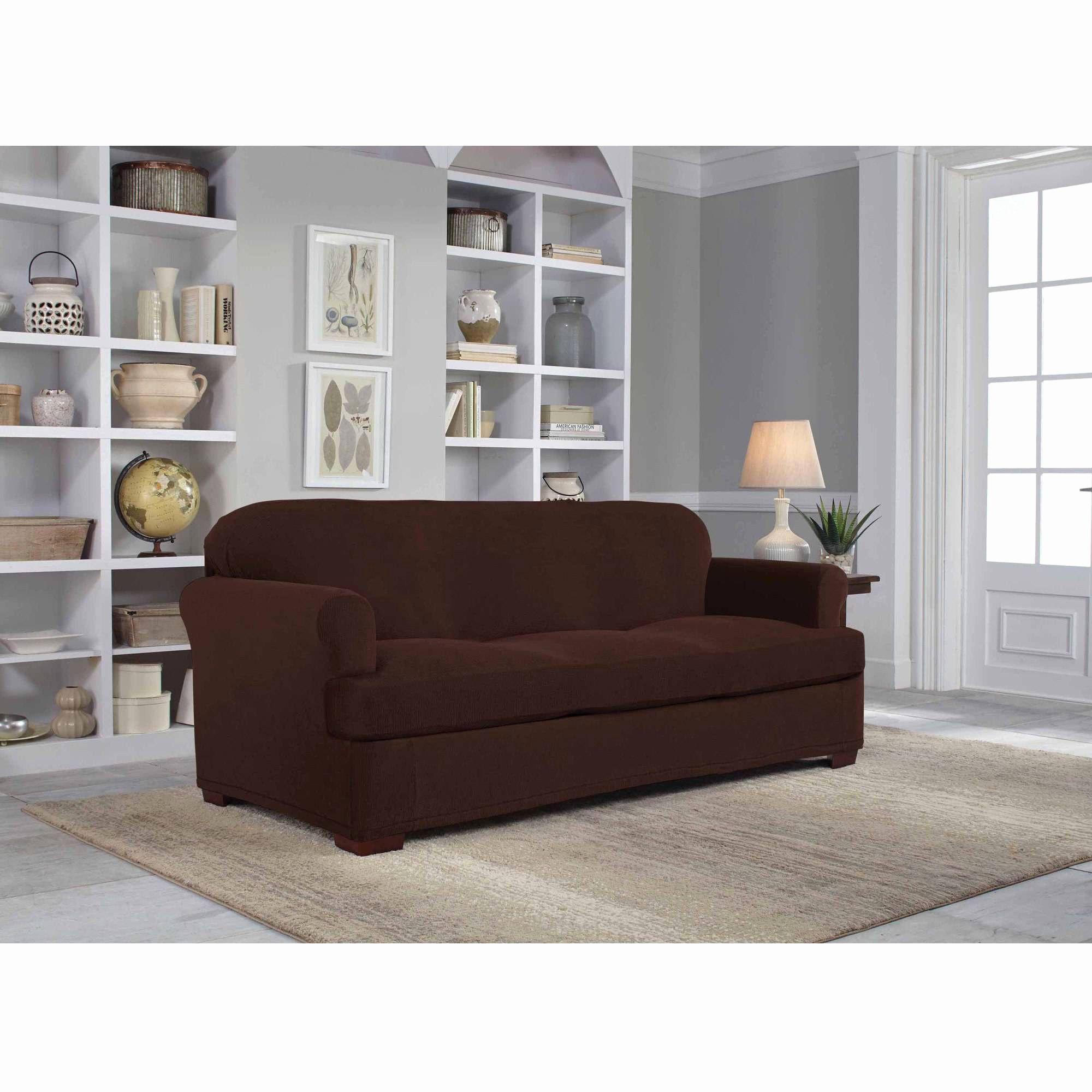 Inspirational Gray Sofa Cover Image Serta Stretch Grid Slipcover Sofa 2 Piece  T Cushion Walmart