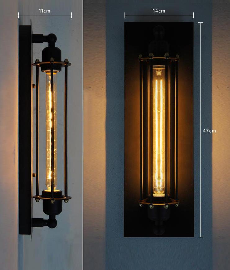 Retro Vintage Wandlampe Wandleuchte Metall Seil Edison Industrie