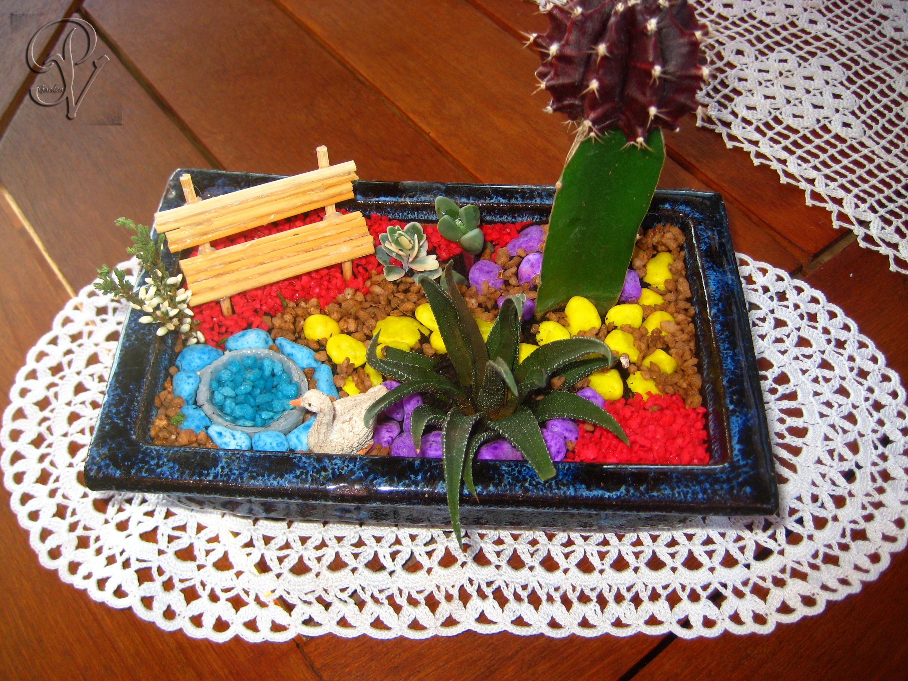 Giardino in miniatura creazioni artigianali terrario for Creazioni giardini