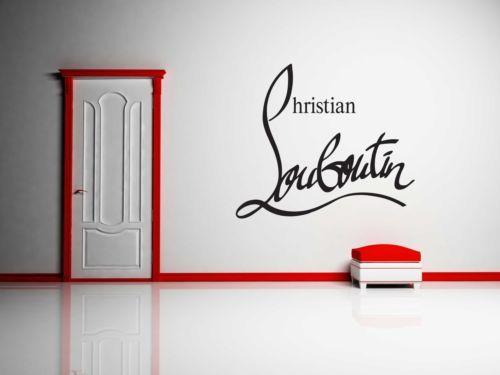 Christian Louboutin Vinyl Wall Decal Sticker Wallart Canvas Art Designer Versace Vinyl Wall Decals Wall Decals Wall Decal Sticker