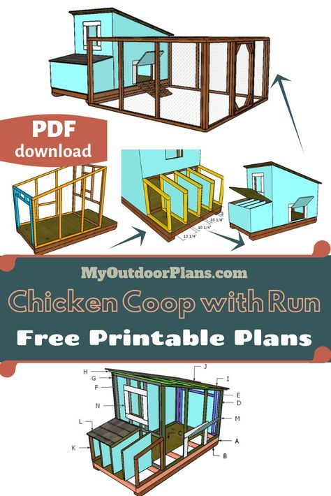 Free Chicken Coop with Run Plans | MyOutdoorPlans | Free Woodworking Plans and Projects, DIY Shed, Wooden Playhouse, Pergola, Bbq