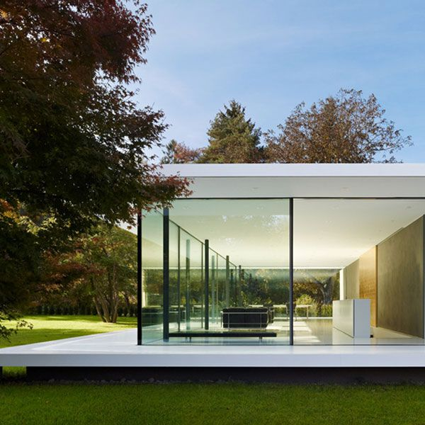 Glass house d10 werner sobek more about us http for Modern glass homes