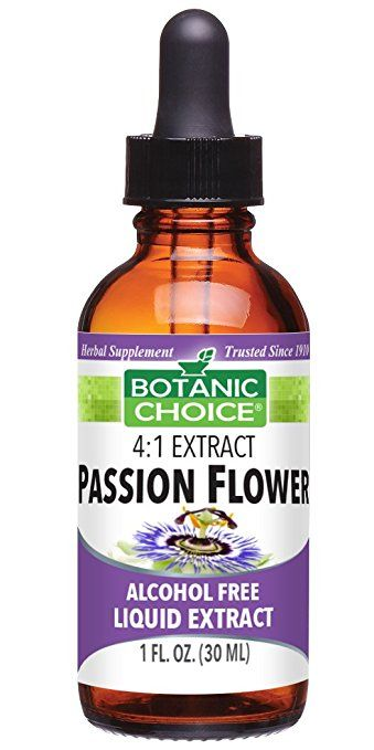 Botanic Choice Passion Flower Herb Alcohol Free Liquid Extract 1 Fluid Ounce Liquid Extract Organic Lemon Lemon Balm