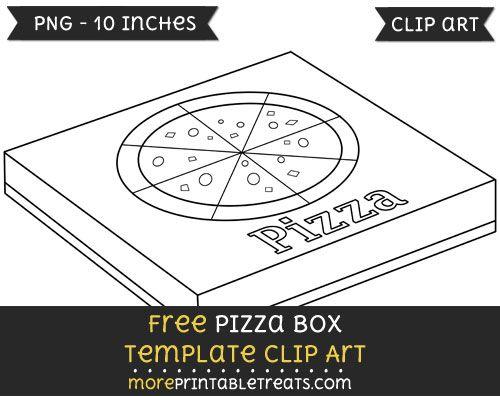 Free Pizza Box Template Clipart Box Template Clip Art Templates